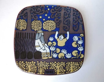 Jewish Moroccan Antique Ceramic Wall Plate Magen By