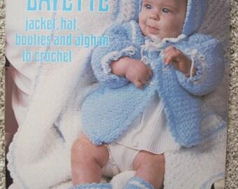 Crochet Pattern Leaflet - Snowflake Layette Set - Leisure Arts #59 - Vintage 1975