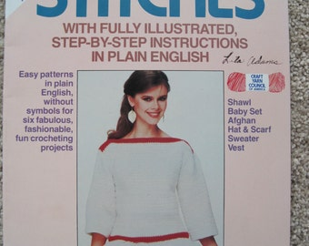 Crochet Book - Keeping You in Stitches - Vintage 1982