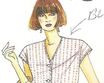 Vintage McCall's 0022, Blouse Pattern Only in  Misses Size 14