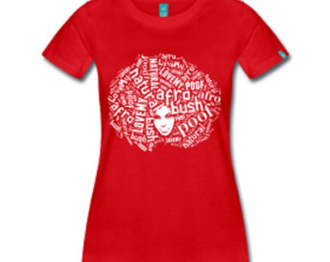 Love My Afro Women's Fitted T-Shirt - Red