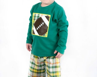 Boy's Football Box Shirt with Embroidered Name