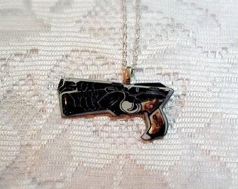 Psycho-Pass Dominator Gun Necklace - Handmade resin jewelry