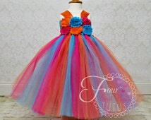 Tropical First Birthday Tutu, Island First Birthday Outfit, Hawaiian Tutu, Girl First Birthday Dress, Girl Birthday Outfit