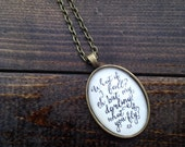 What if i fall? Oh, but my darling...what if you fly?-Glass Dome Pendant Necklace- Oval Link Chain Included