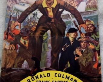 Frank Capra's 1937 production of Lost Horizon, Program VERY RARE