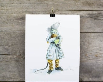 Winter Mouse 8x10 Fine Art Archival Watercolour Print