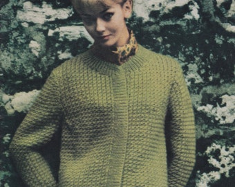 Vintage 1960's Vogue Bulky Knits 164 knitting pattern booklet - PDF digital download