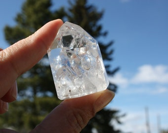 Fire and Ice Quartz, Reiki Infused Crystal, Gemstone