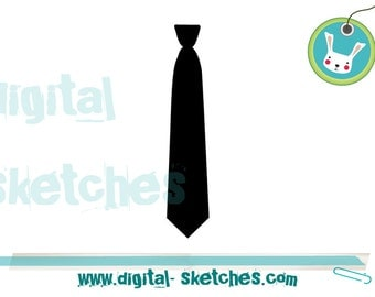 Tie Embroidery Design Instant Download 3 Sizes Silhouette 4 x 4, 5 x 7, 6 x 10 Mr Gentleman