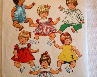 "Simplicity 5947 Small 12""-13"" Doll Dress pattern"