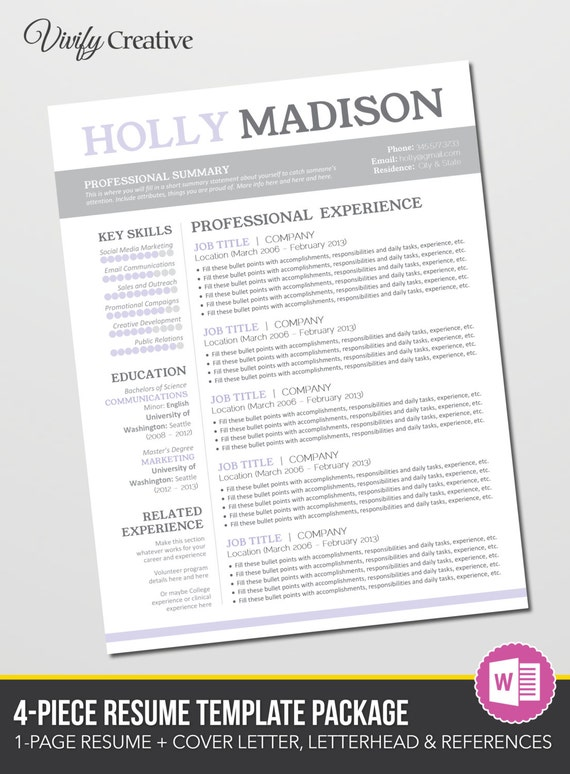 items similar to resume template editable cover