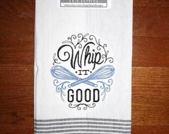 whip it good kitchen towel ~ bridal shower gift