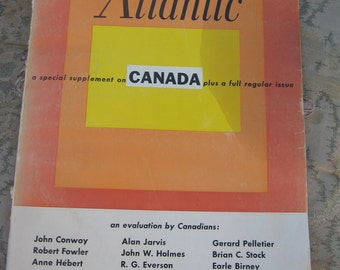 1964 1960's Atlantic Magazine American - Political Cultural Literary Canada Canadians Vintage Advertising Ads Volkswagen VW
