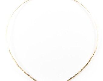 Gemstone Crescent Neck Cuff