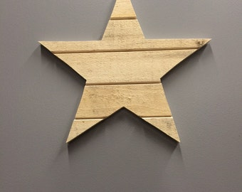 Rustic Pallet Wood Star; Ready To Ship; Reclaimed wood Star