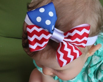 4th of July/Labor Day/Memorial Day/Troops/Patriotic/American Flag Bow/