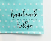 Handmade With Love Stamp for Packaging and Shipping, Custom Etsy Shop Stamp, Shipping Stamp, Packaging Stamp, Stamp for Shop Owners