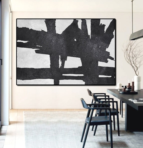 Hand Painted Extra Large Abstract Painting By Fabuartdecor