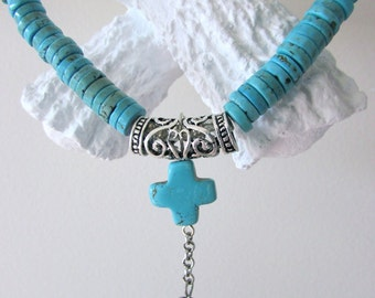 Silver and Turquoise Choker