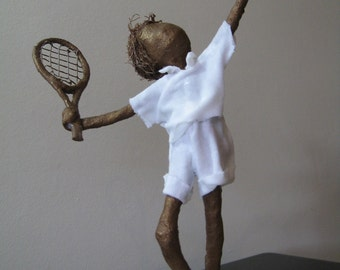 Little Tennis Player Sculpture. Made to Order