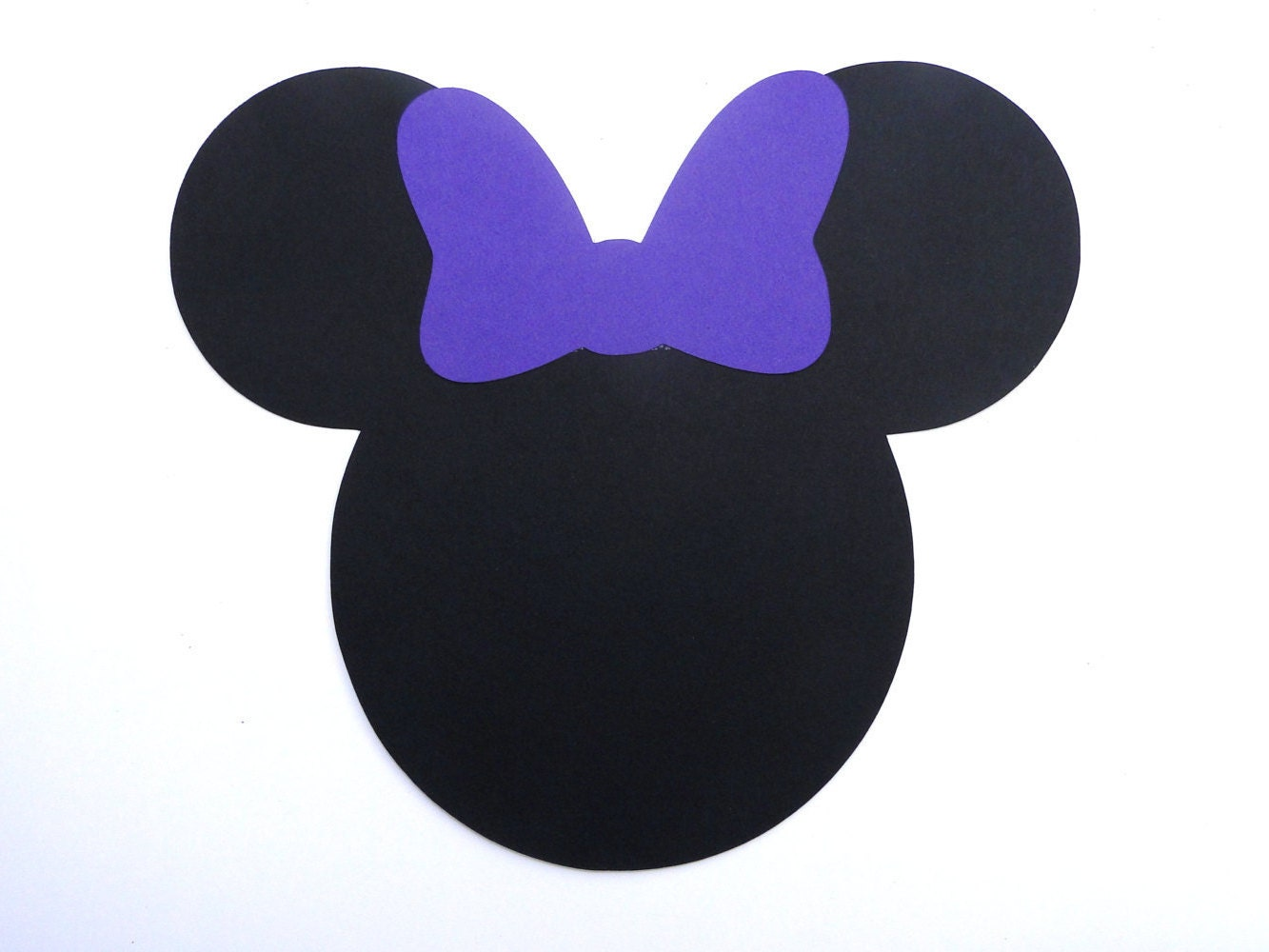 Minnie Mouse Head With Bow Die Cut Any Color Bow And Ears