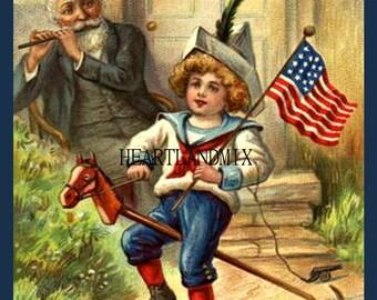 Yankee Doodle Dandy vintage digital image 4th of July