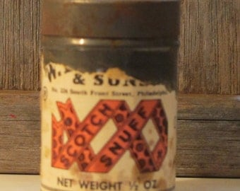 Vintage Scotch Snuff can-free shipping