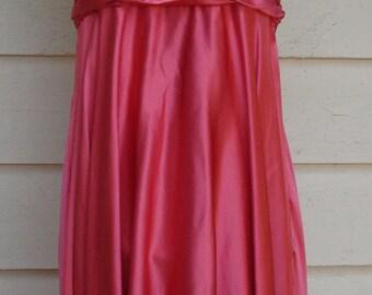 Marilyn Monroe Style Salmon Satin Halter Dress by Lillie Rubin