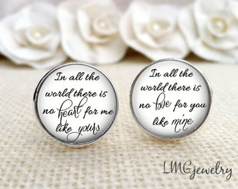 Groom Cufflinks, Wedding Cufflinks, Custom Groom Cufflinks, Gift for Groom, In all the World There Is No