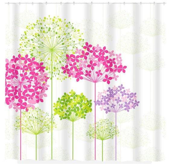 items similar to dandelion shower curtain custom monogram