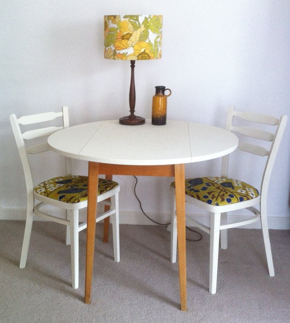 Items similar to sold sold sold upcycled vintage drop leaf for Upcycled dining table