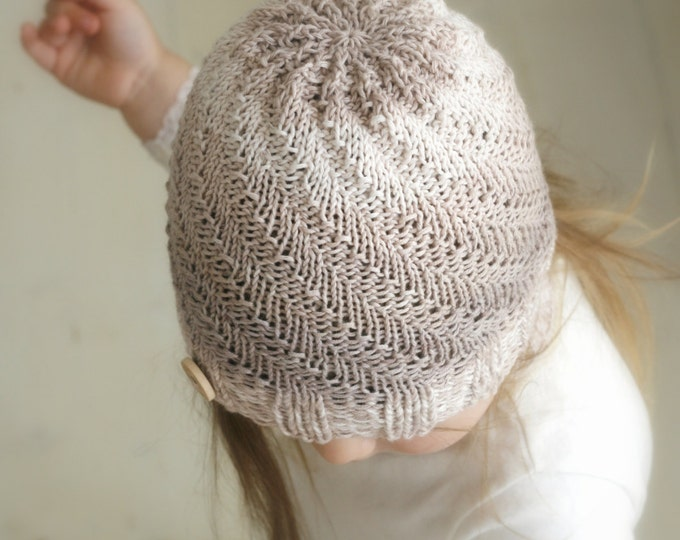 KNITTING PATTERN beanie hat Ashton and scarf (child, teen, woman, man sizes)