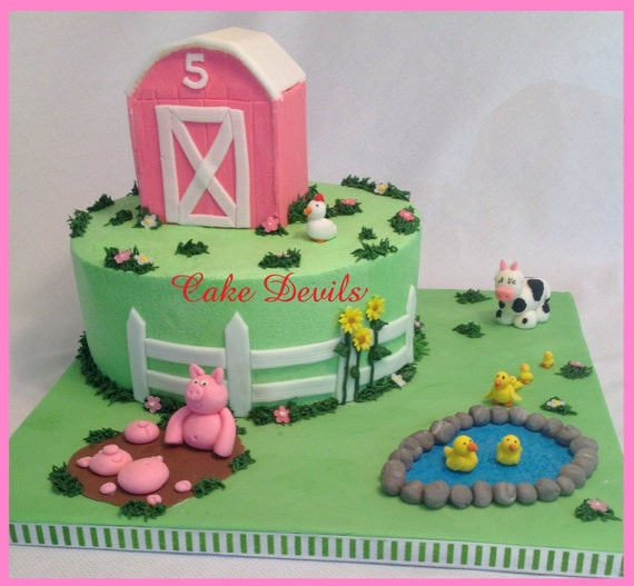 Cake Decorating Kit Bulk Barn : Barn Animal Fondant Cake Topper Kit Farm Animal Cake