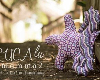 Stuffed seahorse toy/pillow
