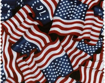 Flag Fabric, Pride & Glory, RJR Dan Morris 2068, Patriotic Fabric, Fourth of July Fabric, Flag Quilt Fabric, Cotton