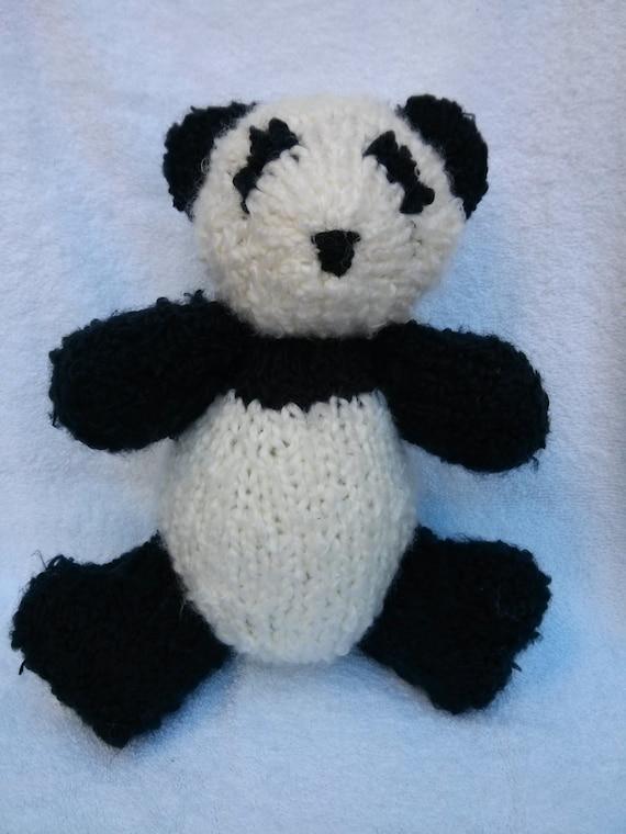 Panda Bear Knitting Pattern : Knitted Panda Bear Pattern PDF Pattern by TwoSistersTeddyBear