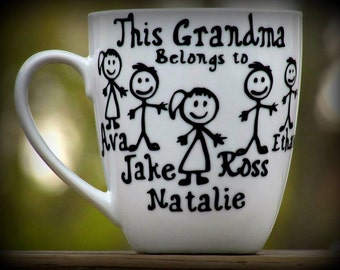 Personalized Grandma Gift / Grandpa Coffee Mug / This grandma belongs to / Customized grandma gift / custom grandpa gift / Grandparents