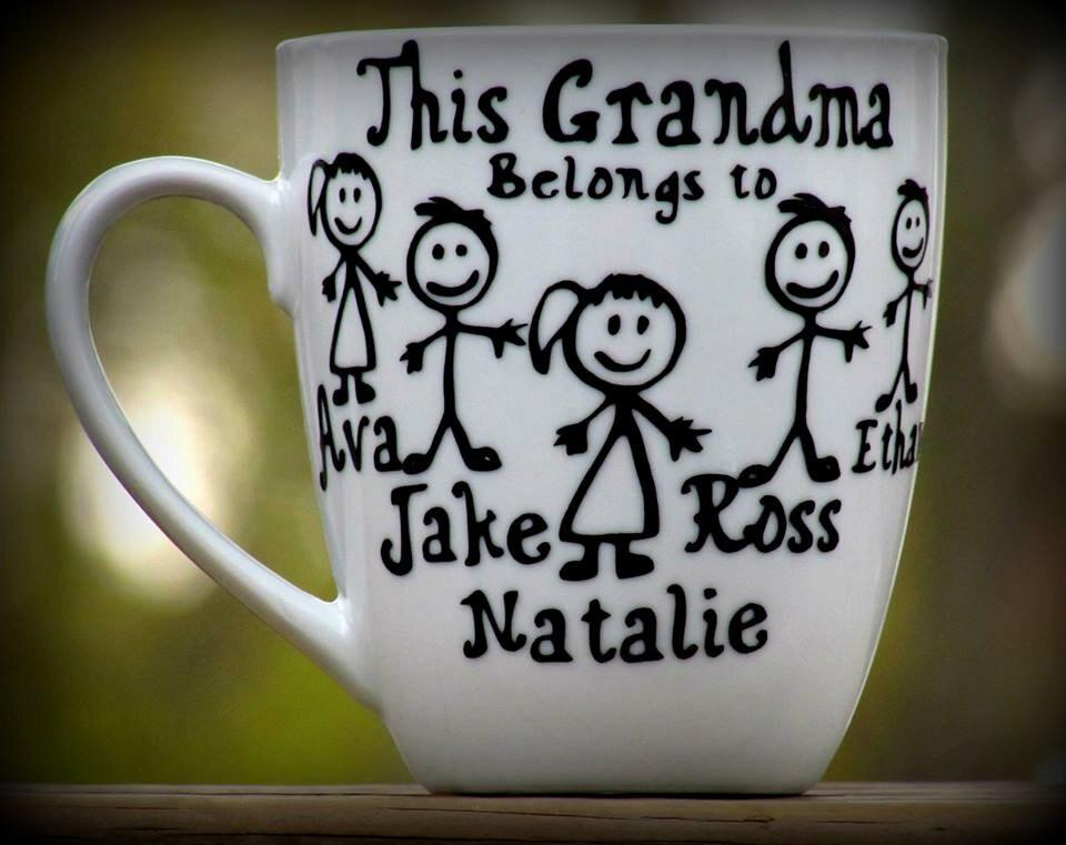 Personalized Grandma Gift / Grandpa Coffee Mug / This grandma
