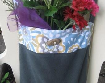 Soft Market Tote bag, Adjustable Strap, shoulder bag, tote bag with pocket, handmade, gray twill bag, urban commuter bag, messenger bag