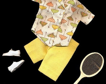 """1962 Tammy #9113-2 """"Tennis the Menace"""" Outfit"""