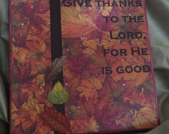 Give Thanks to the Lord canvas
