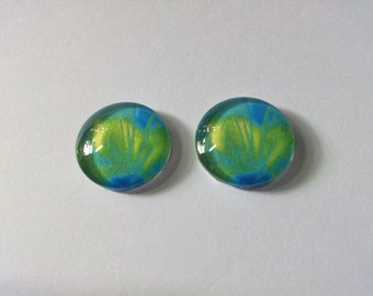 "Cabochon ""Duo Blue Green 01"""