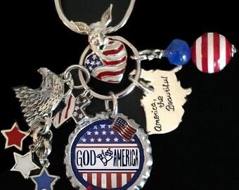God Bless America KeyChain / PurseCharm