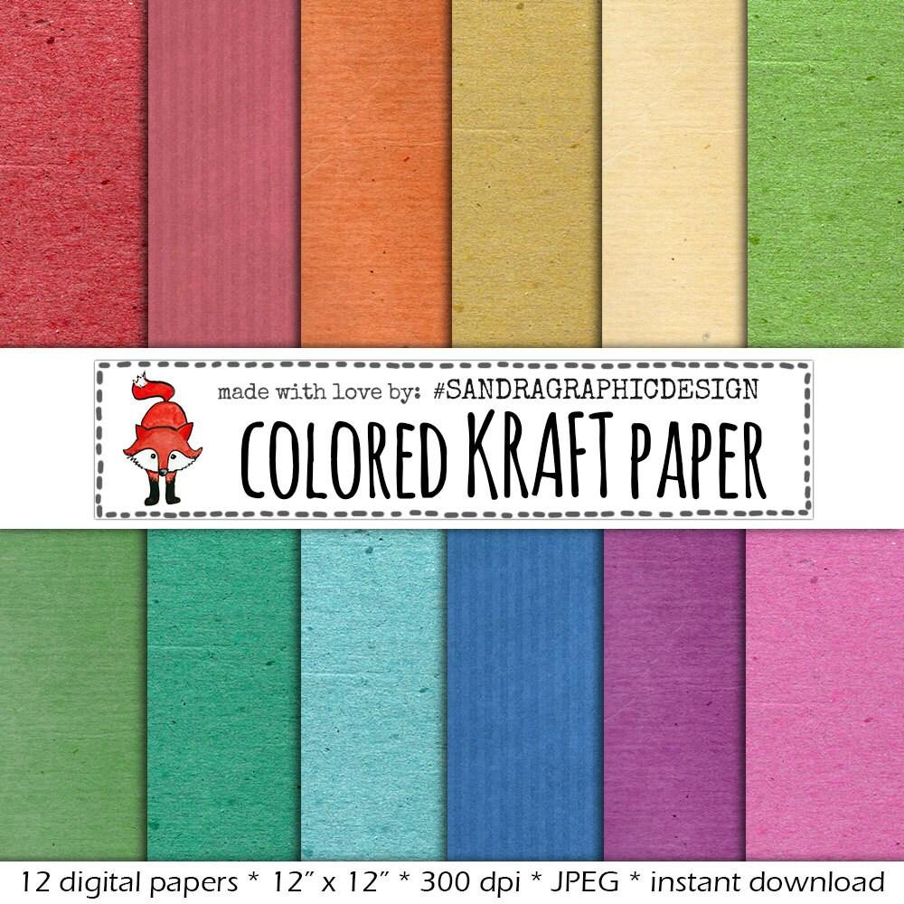 Digital Paper Pack Kraft Paper Color With Kraft Paper Backgrounds