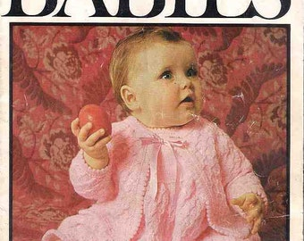 The Babies Knitting book, Patons 790, patterns for 3 ply baby yarns, 1960s 60s sixties, baby knitting patterns, vintage knitting patterns