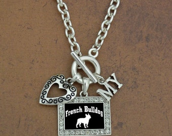 Heart My French Bulldog Necklace
