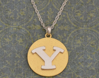 BYU Cougars Two Tone Medallion Necklace