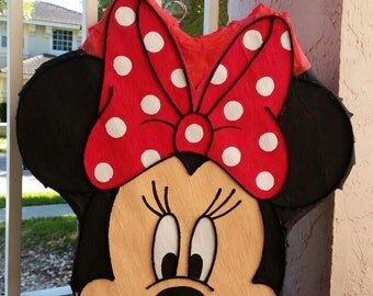 Amazing Minnie Mouse head  inspired   Pinata party !!!!!