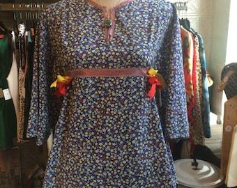 Vintage Peasant Top, Boho Top, Hippie Top, Handmade Shirt